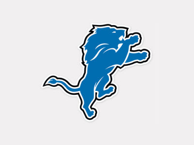 Detroit Lions 4x4 Die Cut Decal Color