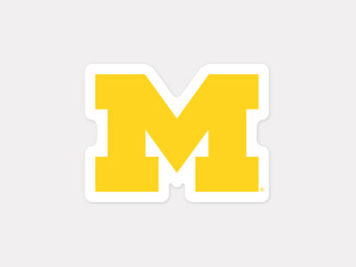 Michigan Wolverines 4x4 Die Cut Decal Color