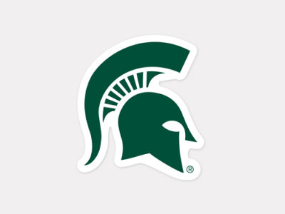 Michigan State Spartans 4x4 Die Cut Decal Color