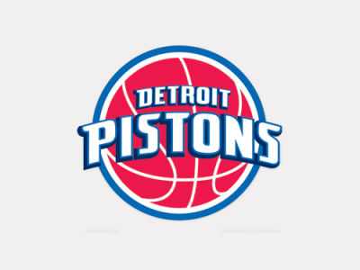 Detroit Pistons 4x4 Die Cut Decal Color
