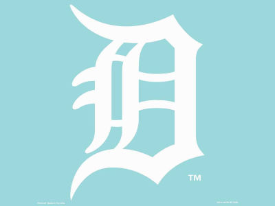 "Detroit Tigers Die Cut Decal 8""x8"""