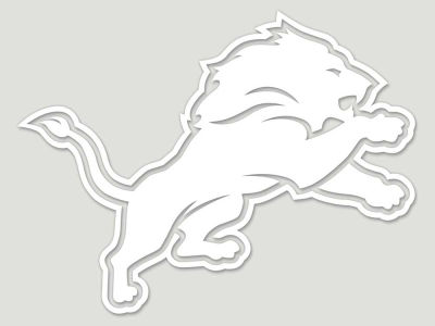 "Detroit Lions Die Cut Decal 8""x8"""