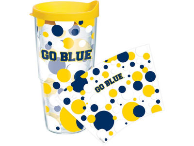 Michigan Wolverines 24oz. Polka Dot Tumbler With Lid