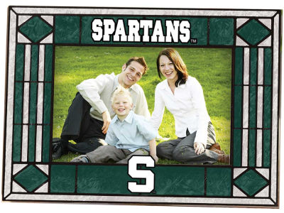 Michigan State Spartans Art Glass Picture Frame