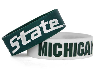 Michigan State Spartans 2-pack Wide Bracelet