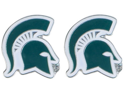 Michigan State Spartans Logo Post Earrings