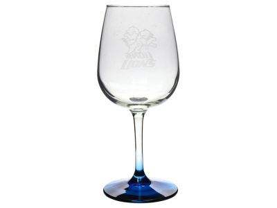 Detroit Lions Satin Etch Wine Glass
