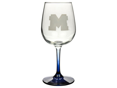 Michigan Wolverines Satin Etch Wine Glass