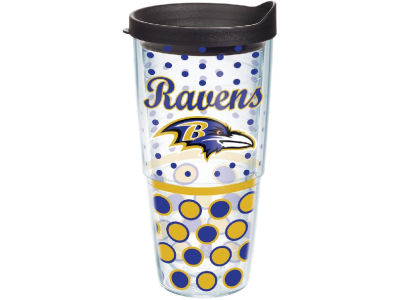 Baltimore Ravens 24oz. Polka Dot Tumbler With Lid