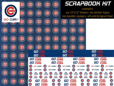 Chicago Cubs Sticker Set