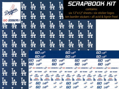 Los Angeles Dodgers Sticker Set