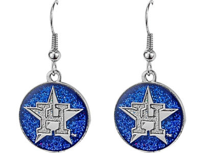 Houston Astros Glitter Dangle Earrings Aminco