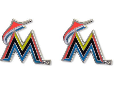 Miami Marlins Logo Post Earrings