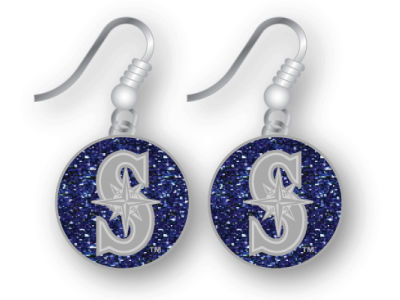 Seattle Mariners Glitter Dangle Earrings Aminco