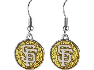 San Francisco Giants Glitter Dangle Earrings Aminco