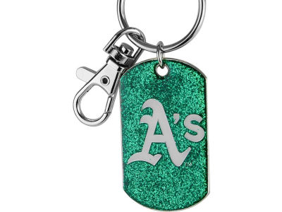 Oakland Athletics Glitter Key Ring