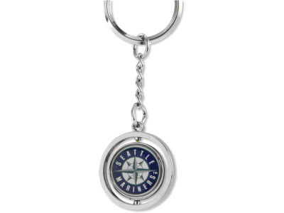 Seattle Mariners Rubber Baseball Spinning Key Ring