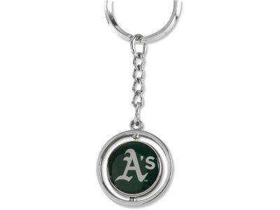 Oakland Athletics Rubber Baseball Spinning Key Ring