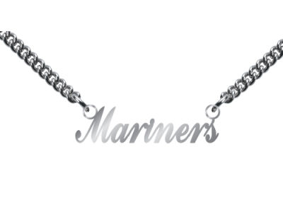Seattle Mariners Team Script Necklace