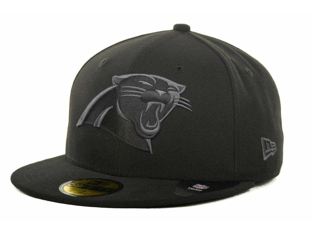 8ad267f0b65 Carolina Panthers New Era NFL Black Gray Basic 59FIFTY Cap