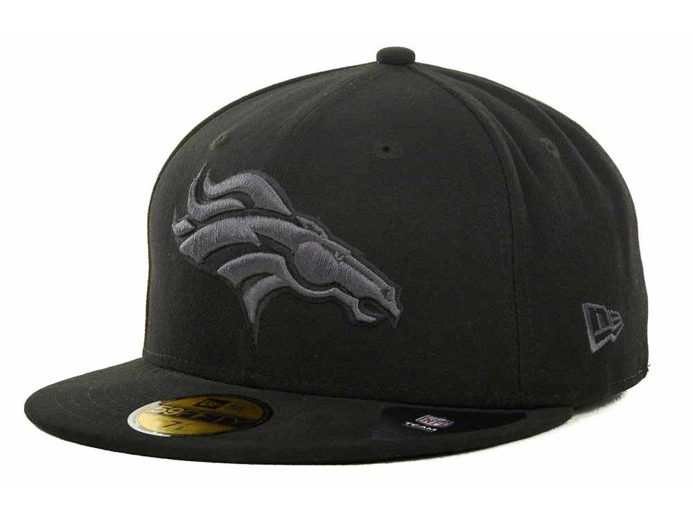 Denver Broncos New Era NFL Black Gray Basic 59FIFTY Cap  bed587e70c1