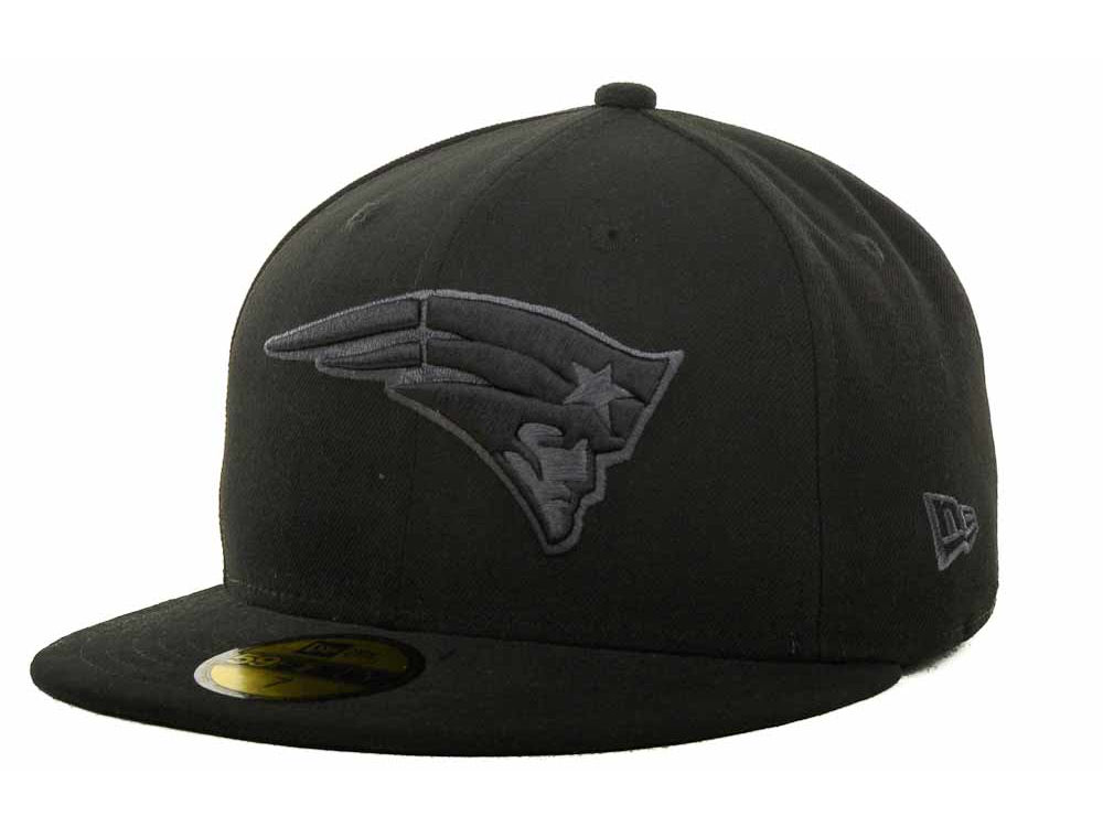 2743f46b7 New England Patriots New Era NFL Black Gray Basic 59FIFTY Cap