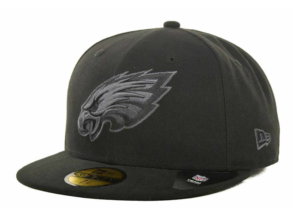 ef8f28e011f Philadelphia Eagles New Era NFL Black Gray Basic 59FIFTY Cap