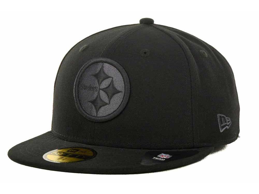 Pittsburgh Steelers New Era NFL Black Gray Basic 59FIFTY Cap  e09fada23e4