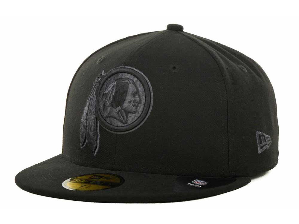 Washington Redskins New Era NFL Black Gray Basic 59FIFTY Cap  bf12f8ba027