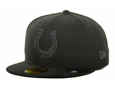 Indianapolis Colts New Era NFL Black Gray Basic 59FIFTY Cap