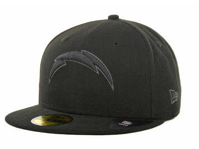 San Diego Chargers New Era NFL Black Gray Basic 59FIFTY Cap
