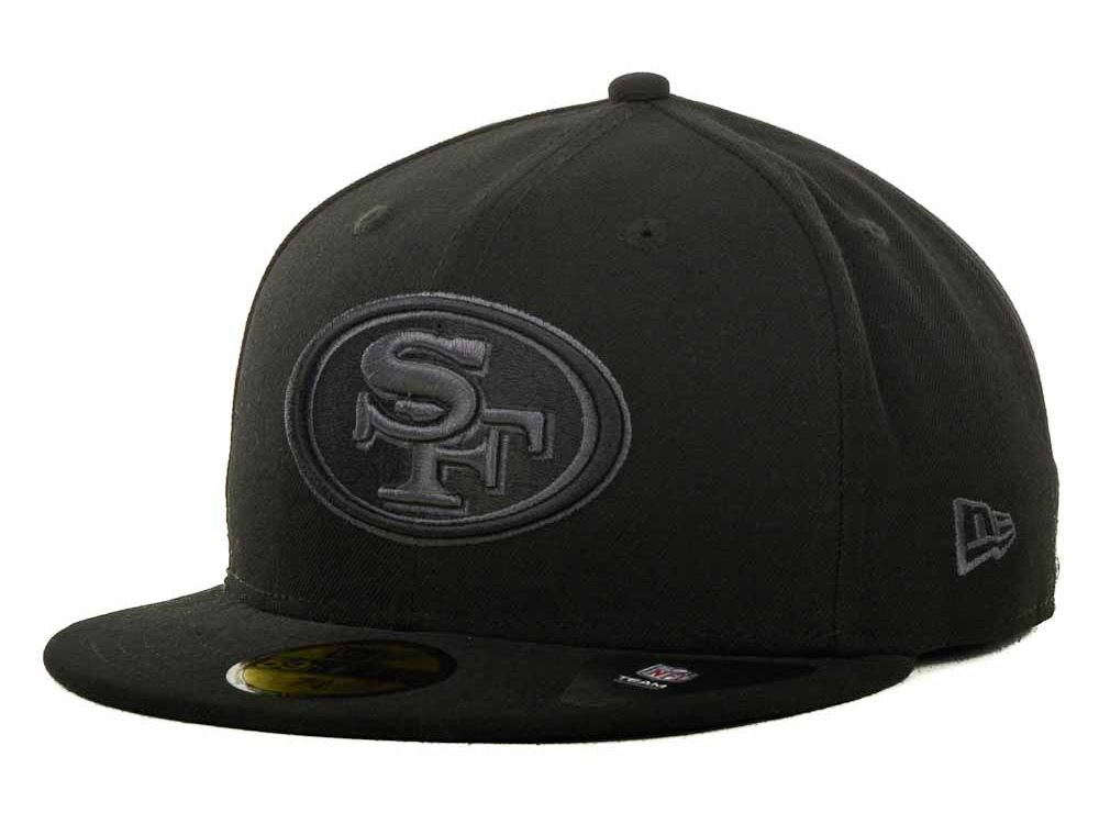 San Francisco 49ers New Era NFL Black Gray Basic 59FIFTY Cap  2d0e07bc2