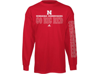 Nebraska Cornhuskers adidas NCAA Team Pride Long-Sleeve T-Shirt