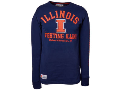 Illinois Fighting Illini NCAA Clothesline Long Sleeve T-Shirt