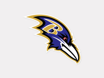 Baltimore Ravens 4x4 Die Cut Decal Color