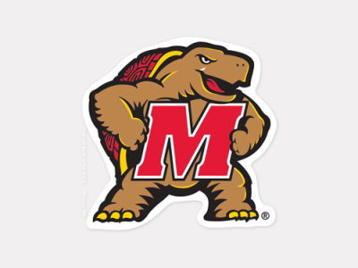 Maryland Terrapins 4x4 Die Cut Decal Color