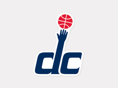 Washington Wizards 4x4 Die Cut Decal Color