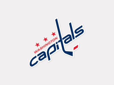 Washington Capitals 4x4 Die Cut Decal Color