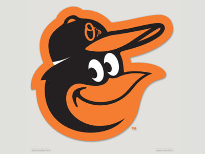 Baltimore Orioles Die Cut Color Decal 8in X 8in