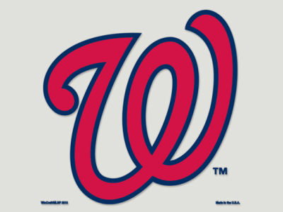 Washington Nationals Die Cut Color Decal 8in X 8in