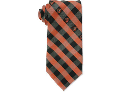 Baltimore Orioles Polyester Checked Tie