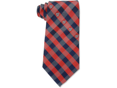 Washington Nationals Polyester Checked Tie