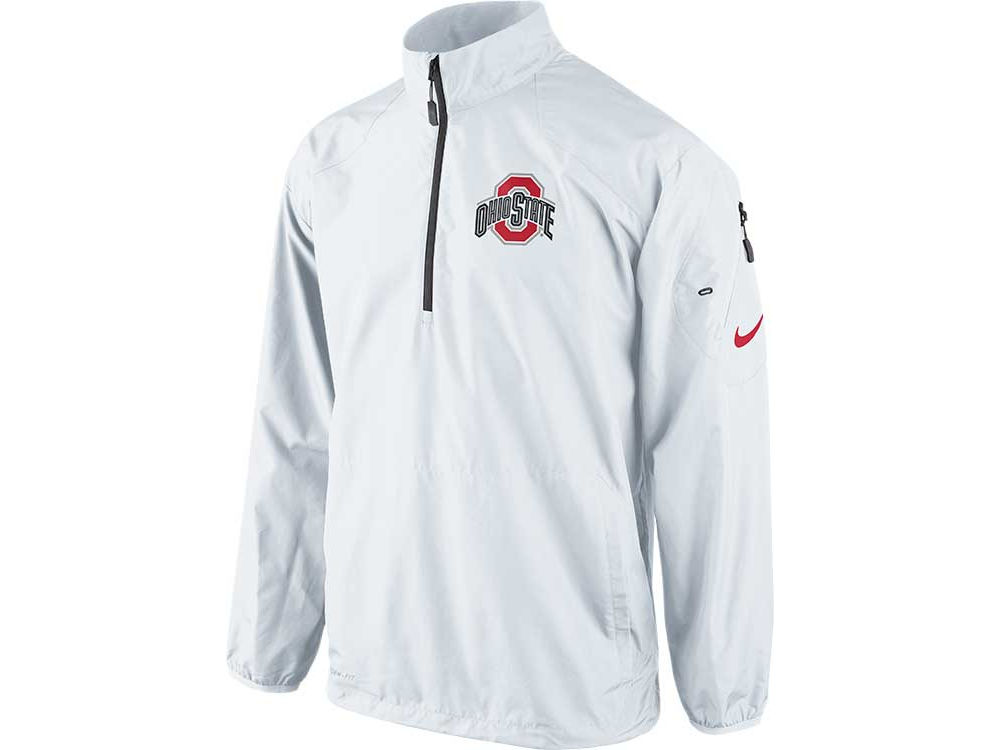 Ohio State Buckeyes Nike NCAA Men s Lockdown Half Zip Pullover Jacket  4e016d4f7