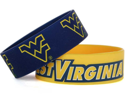 West Virginia Mountaineers Aminco 2-pack Wide Bracelet