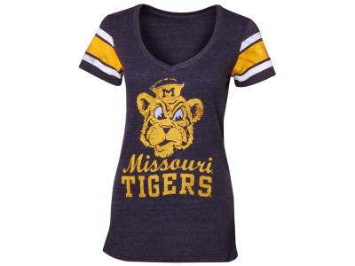 Missouri Tigers NCAA Womens Large Mascot V Neck Jersey