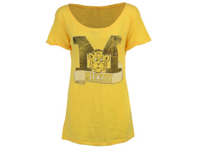 Missouri Tigers NCAA Womens Banner Scoop Neck T-Shirt