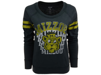 Missouri Tigers NCAA Womens Touch Down Long Sleeve Raglan T-Shirt