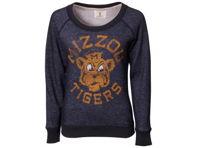 Missouri Tigers NCAA Womens Vintage Scoop Crew Sweatshirt