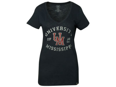 Ole Miss Rebels NCAA Womens Scrum Vneck T-Shirt