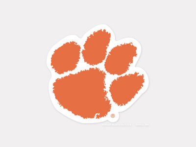 Clemson Tigers 4x4 Die Cut Decal Color